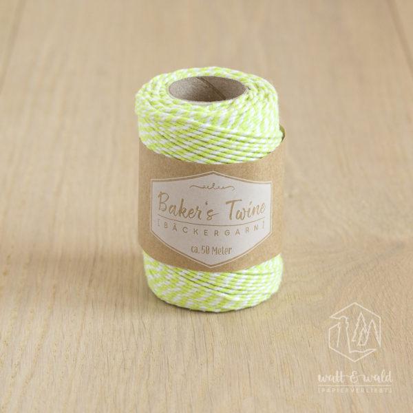 ca. 50 Meter Baker's Twine aus 100% Baumwolle in gelb-weiß meliert