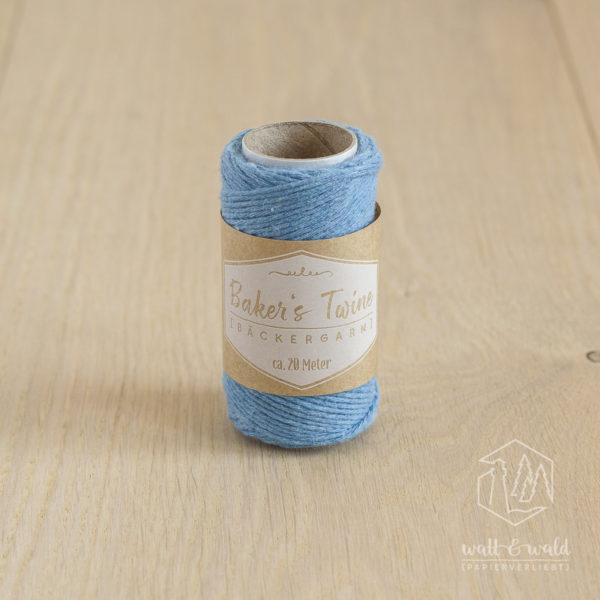 ca. 20 Meter feines Baker's Twine aus 100% Baumwolle in hellblau