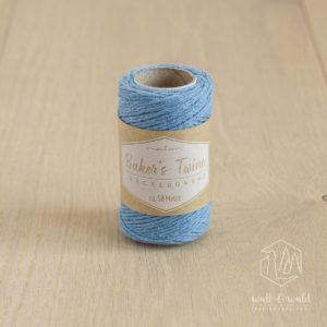 ca. 50 Meter feines Baker's Twine aus 100% Baumwolle in hellblau
