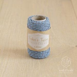 ca. 20 Meter Baker's Twine aus 100% Baumwolle in hellblau-grau meliert