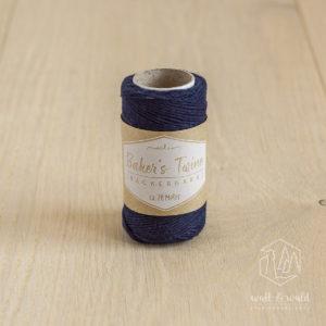 ca. 20 Meter feines Baker's Twine aus 100% Baumwolle in dunkelblau