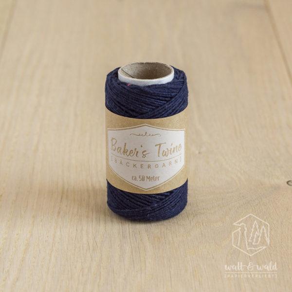 ca. 50 Meter feines Baker's Twine aus 100% Baumwolle in dunkelblau