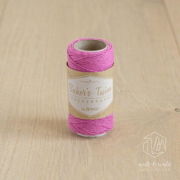 ca. 20 Meter feines Baker's Twine aus 100% Baumwolle in pink