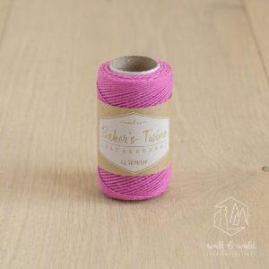 ca. 50 Meter feines Baker's Twine aus 100% Baumwolle in pink