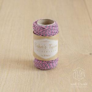ca. 20 Meter Baker's Twine aus 100% Baumwolle in rosa-grau meliert