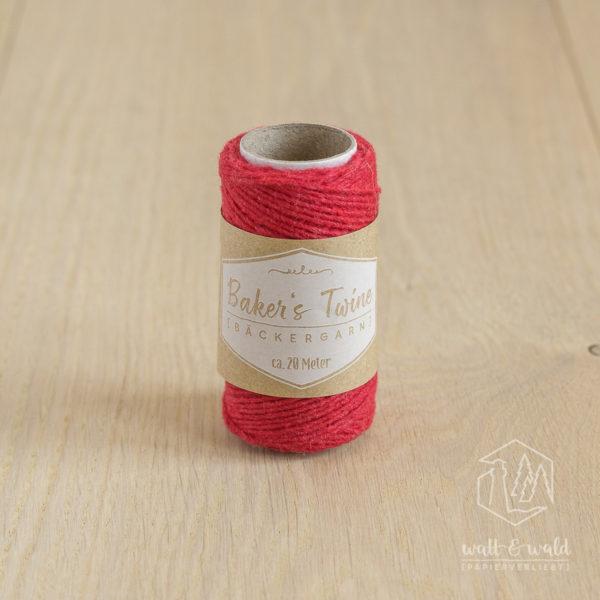 ca. 20 Meter feines Baker's Twine aus 100% Baumwolle in rot