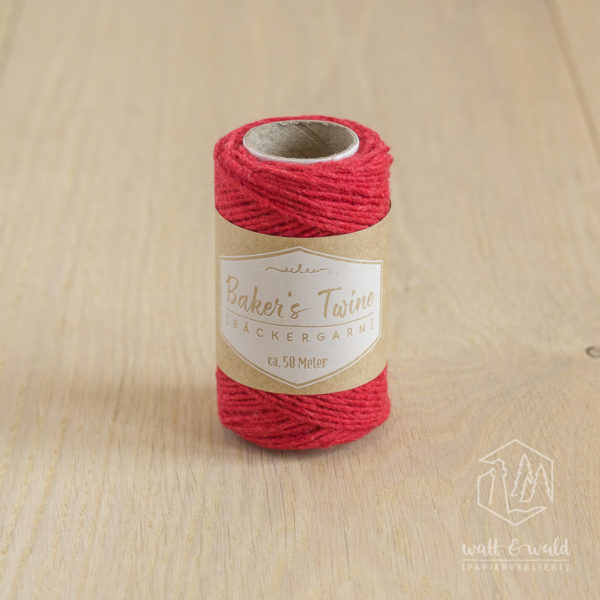 ca. 50 Meter feines Baker's Twine aus 100% Baumwolle in rot