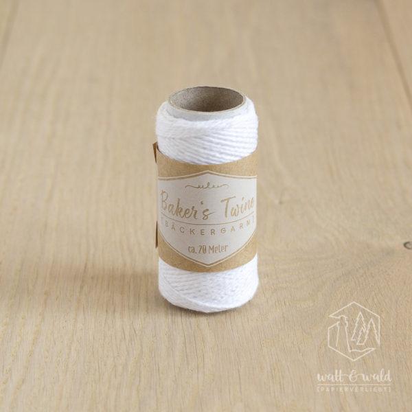 ca. 20 Meter feines Baker's Twine aus 100% Baumwolle in weiß