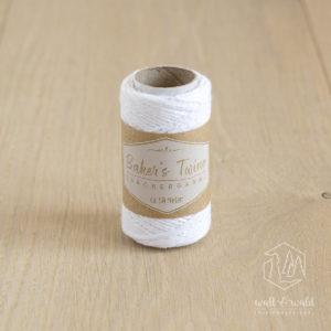 ca. 50 Meter feines Baker's Twine aus 100% Baumwolle in weiß