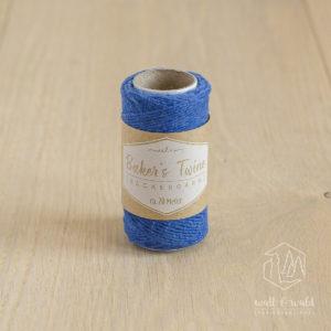 ca. 20 Meter feines Baker's Twine aus 100% Baumwolle in blau