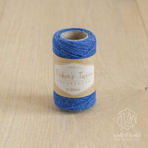 ca. 50 Meter feines Baker's Twine aus 100% Baumwolle in blau