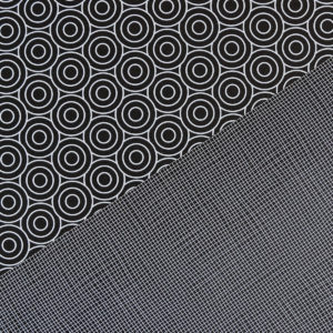 gemustertes, grafisches Geschenkpapier von My Pretty Circus | beidseitig bedruckt | Kreise & Netz schwarz