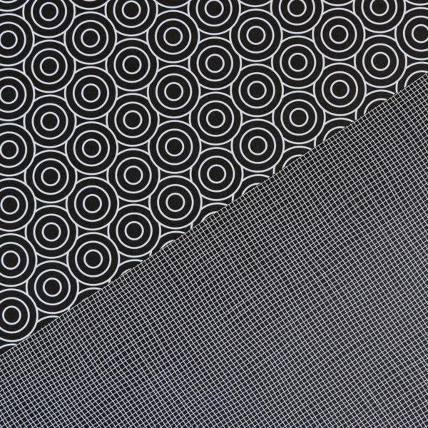 Geschenkpapier Kreise & Netz schwarz
