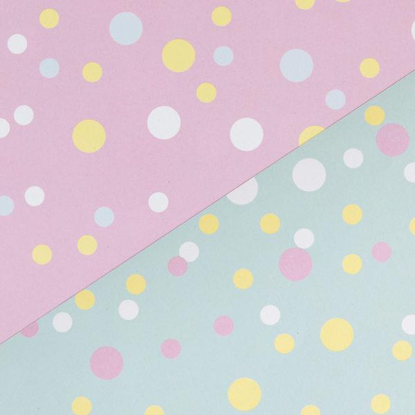 gemustertes, grafisches Geschenkpapier von My Pretty Circus | beidseitig bedruckt | Konfetti rosa & mint