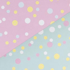 Geschenkpapier Konfetti rosa & mint