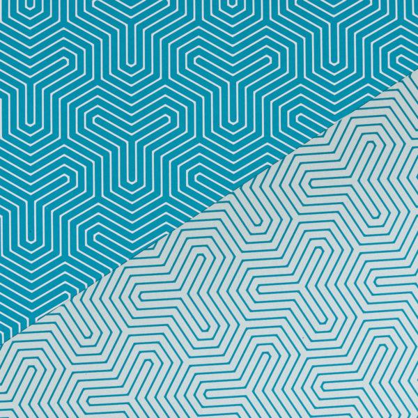 Geschenkpapier Geometrisch türkis