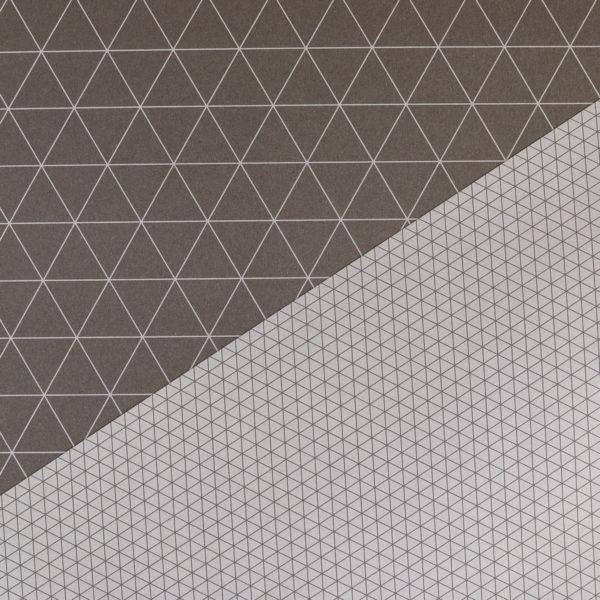 Geschenkpapier Dreiecke braun
