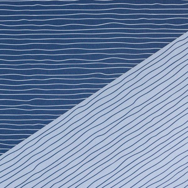 gemustertes, grafisches Geschenkpapier von My Pretty Circus | beidseitig bedruckt | Wasser blau