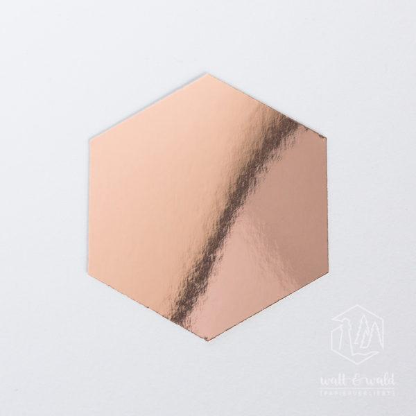 Spiegelkarton roségold | wattundwald [papierverliebt]