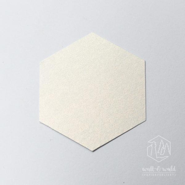 Schimmerkarton weiß-gold | wattundwald [papierverliebt]