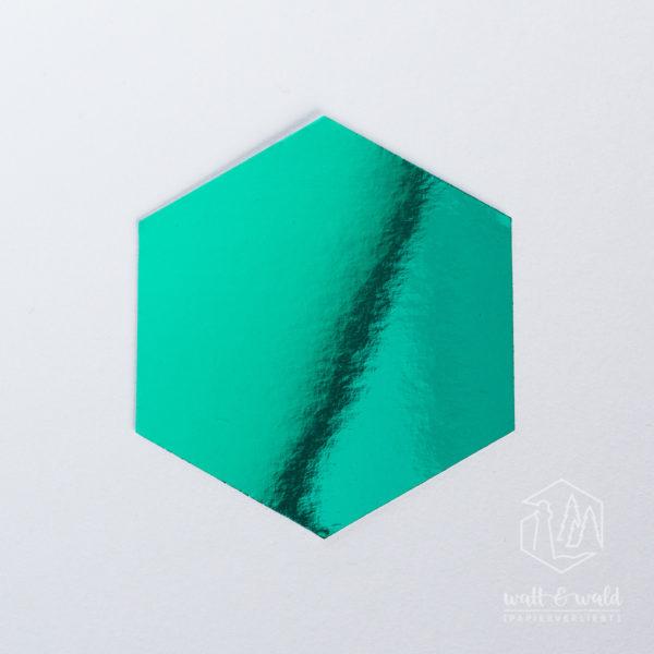 Spiegelkarton smaragdgrün | wattundwald [papierverliebt]