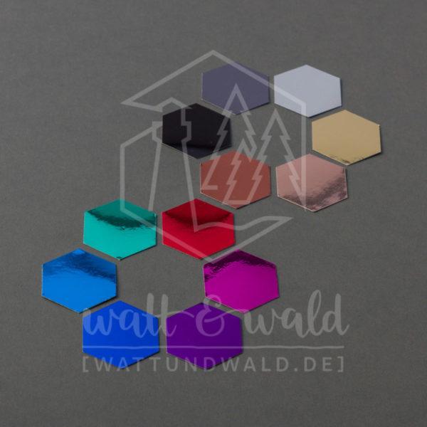 Spiegelkarton Probepäckchen - 12 Farben | wattundwald [papierverliebt]