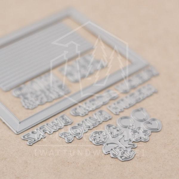 watt&wald Stanzen - Letterboard | zum ausstanzen aus Papier für Karten, Scrapbook und Basteln