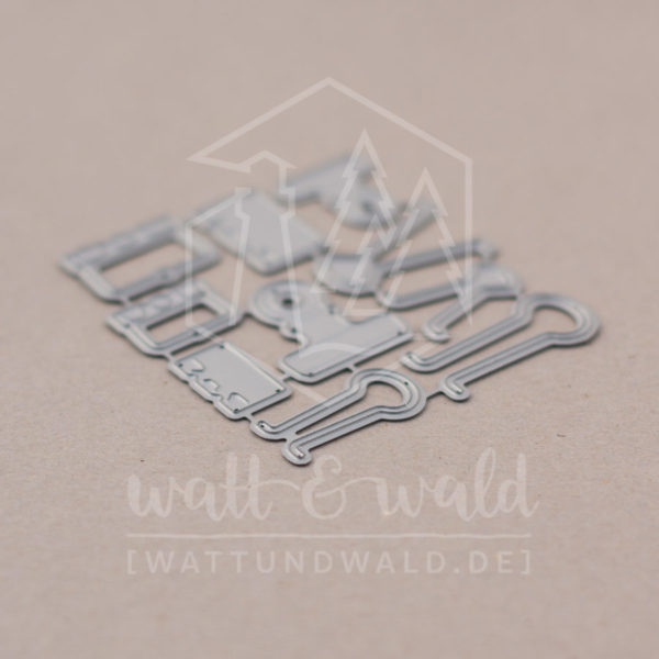 dreierlei Papierklammern - Original Stanzen von watt&wald | zum Ausstanzen aus Papier | Kartenbasteln, Scrapbook, Basteln