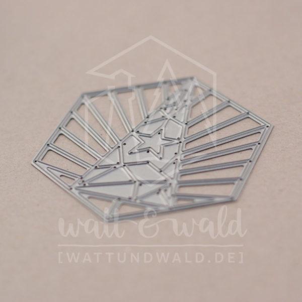 Art Deco Weihnachtsbaum - Original Stanzen von watt&wald | zum Ausstanzen aus Papier | Kartenbasteln, Scrapbook, Basteln