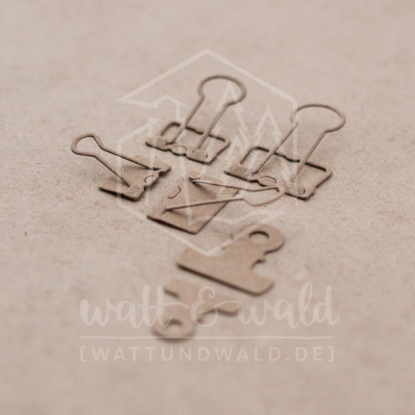Papierklammern - Original Stanzen von Watt&wald | Stanzteile aus Papier | Kartenbasteln, Scrapbook, Basteln