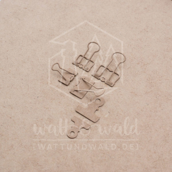 Original Watt&Wald Stanzen Papierklammern | Stanzteile aus Papier | Kartenbasteln, Scrapbook, Basteln