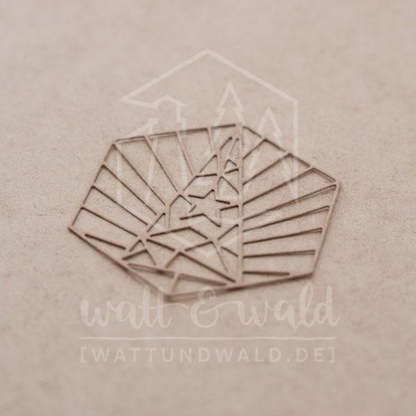 wattundwald Stanze Art Deco Weihnachtsbaum | Stanzteile aus Papier | Kartenbasteln, Scrapbook, Basteln