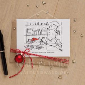 Postkarte Versucherle | wattundwald [papierverliebt]