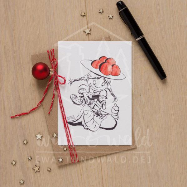 Postkarte Nikolaus | wattundwald [papierverliebt]