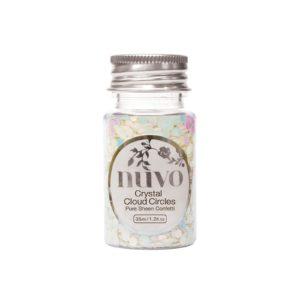 nuvo - Pure Sheen Confetti - Crystal Cloud Circles | 35 ml Konfetti | wattundwald [papierverliebt]