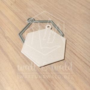 Original Cutting Dies von watt&wald zum Ausstanzen aus Papier. Hexagon Anhänger