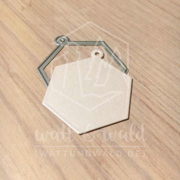 watt&wald Stanzen - Hexagon Anhänger | zum ausstanzen aus Papier für Karten, Scrapbook und Basteln