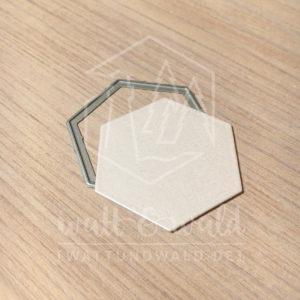 Original Cutting Dies von watt&wald zum Ausstanzen aus Papier. einfaches Hexagon