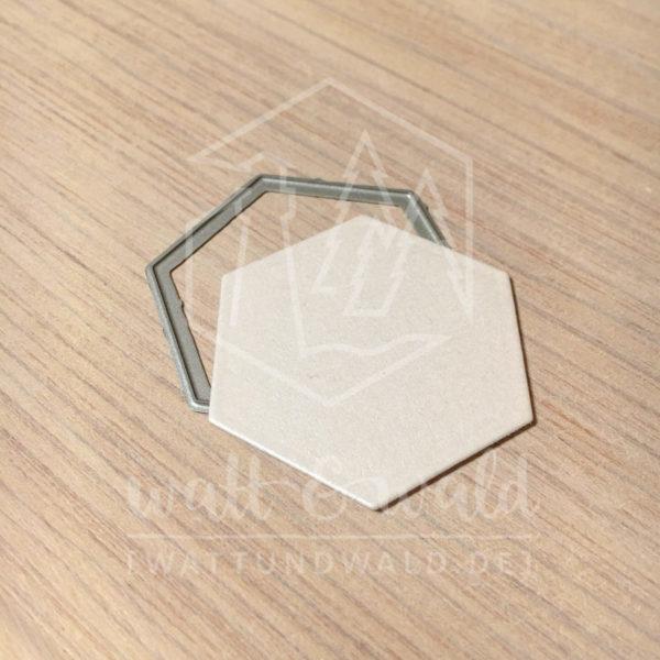 watt&wald Stanzen - Hexagon | zum ausstanzen aus Papier für Karten, Scrapbook und Basteln