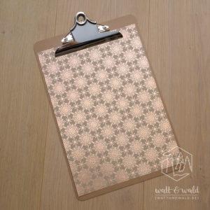 Heyda Naturkarton Ornament mit Heißfolienveredelung | roségold | 220 g/m² | A4