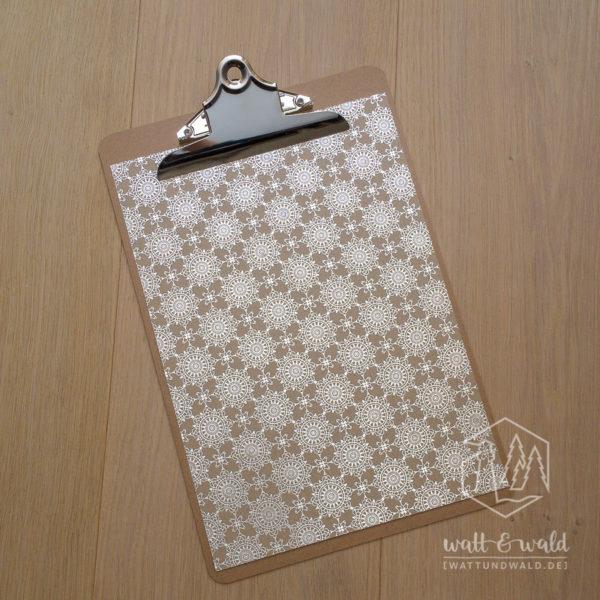 Heyda Naturkarton Ornament mit Heißfolienveredelung | silber | 220 g/m² | A4