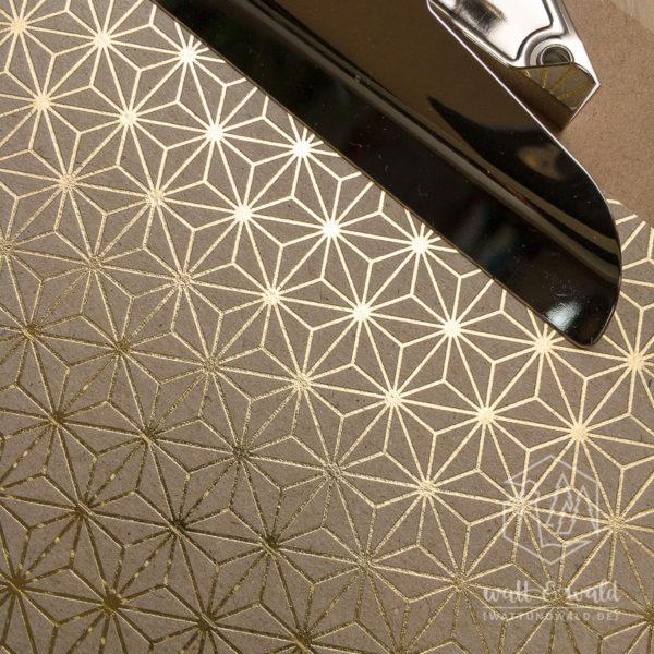 Heyda Naturkarton Starlight mit Heißfolienveredelung | gold | 220 g/m² | A4 | Detail