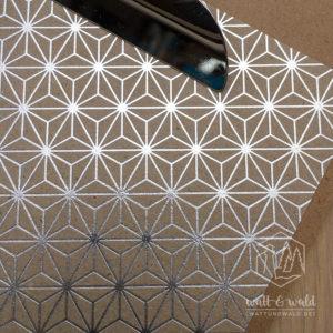 Heyda Naturkarton Starlight mit Heißfolienveredelung | silber | 220 g/m² | A4 | Detail