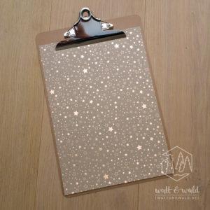 Heyda Naturkarton Sterne mit Heißfolienveredelung | roségold | 220 g/m² | A4
