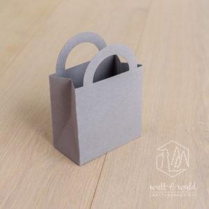 Buntbox Colour Bag S | grau | Kleines Geschenktäschchen aus stabilem Recyclingkarton | für Gastgeschenke, Mitbringsel und Give-Aways