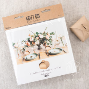 braune bauchige Geschenkschachteln | Kraftkarton | ca. 6 x 6 x 5,5 cm