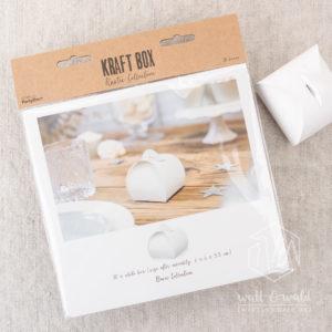 weiße bauchige Geschenkschachteln | Chromokarton | ca. 6 x 6 x 5,5 cm
