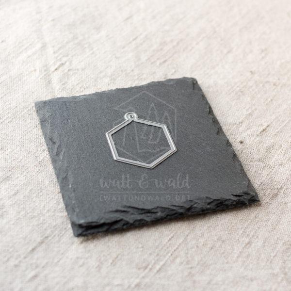 Anhänger Rahmen | Hexagon Stanzform von wattundwald