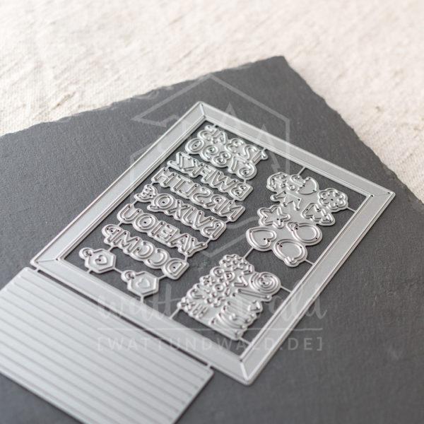 Letterboard | Original Stanzformen von watt&wald zum Ausstanzen aus Papier.