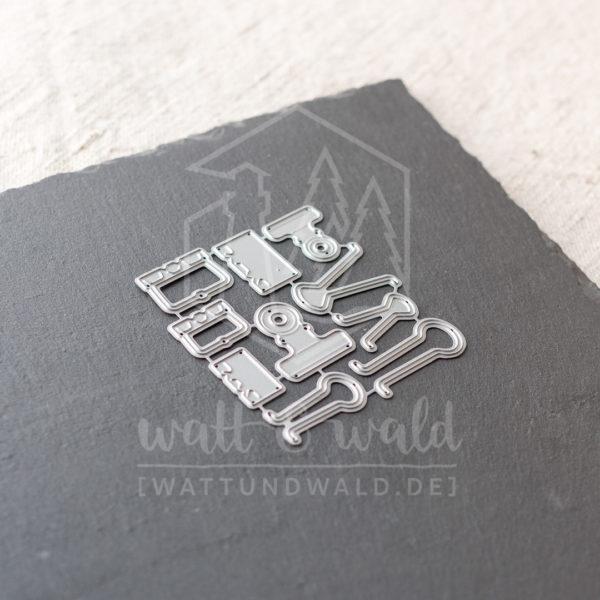 Papierklammern | Original Stanzformen von watt&wald zum Ausstanzen aus Papier.